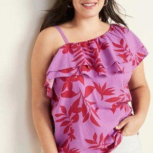 Old Navy Plus-Size Ruffle-Trim One-Shoulder Top